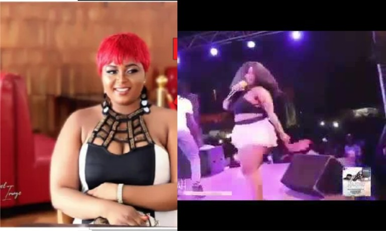 Ghanaian Singer, Badgirl Nafisah Removes Panty On Stage